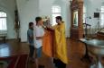 Трудный подросток, состоящий на учете в уголовно-исполнительной инспекции, прошел обряд крещения в храме Бурятии