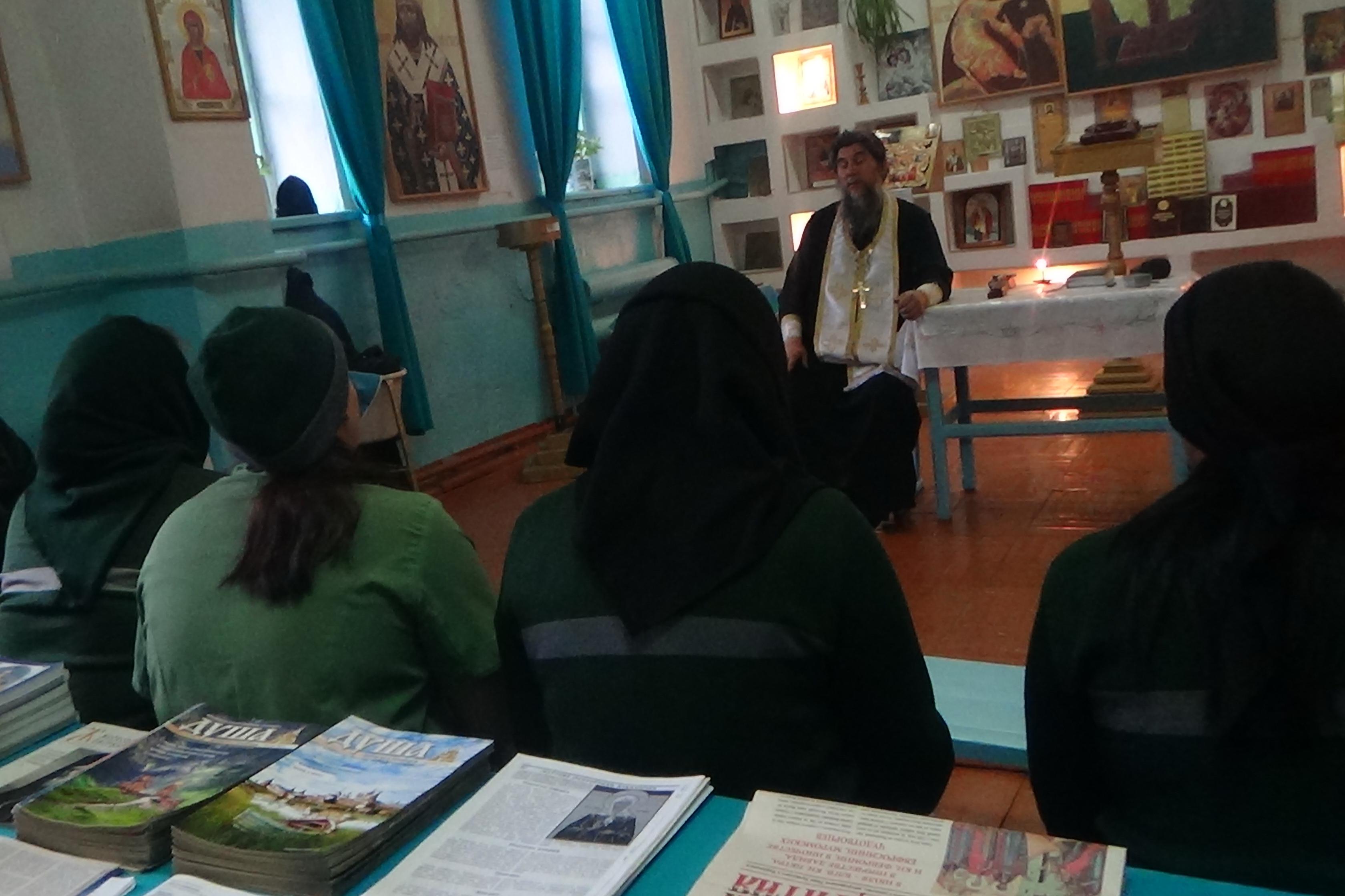 Исправительную колонию № 7 посетил священнослужитель