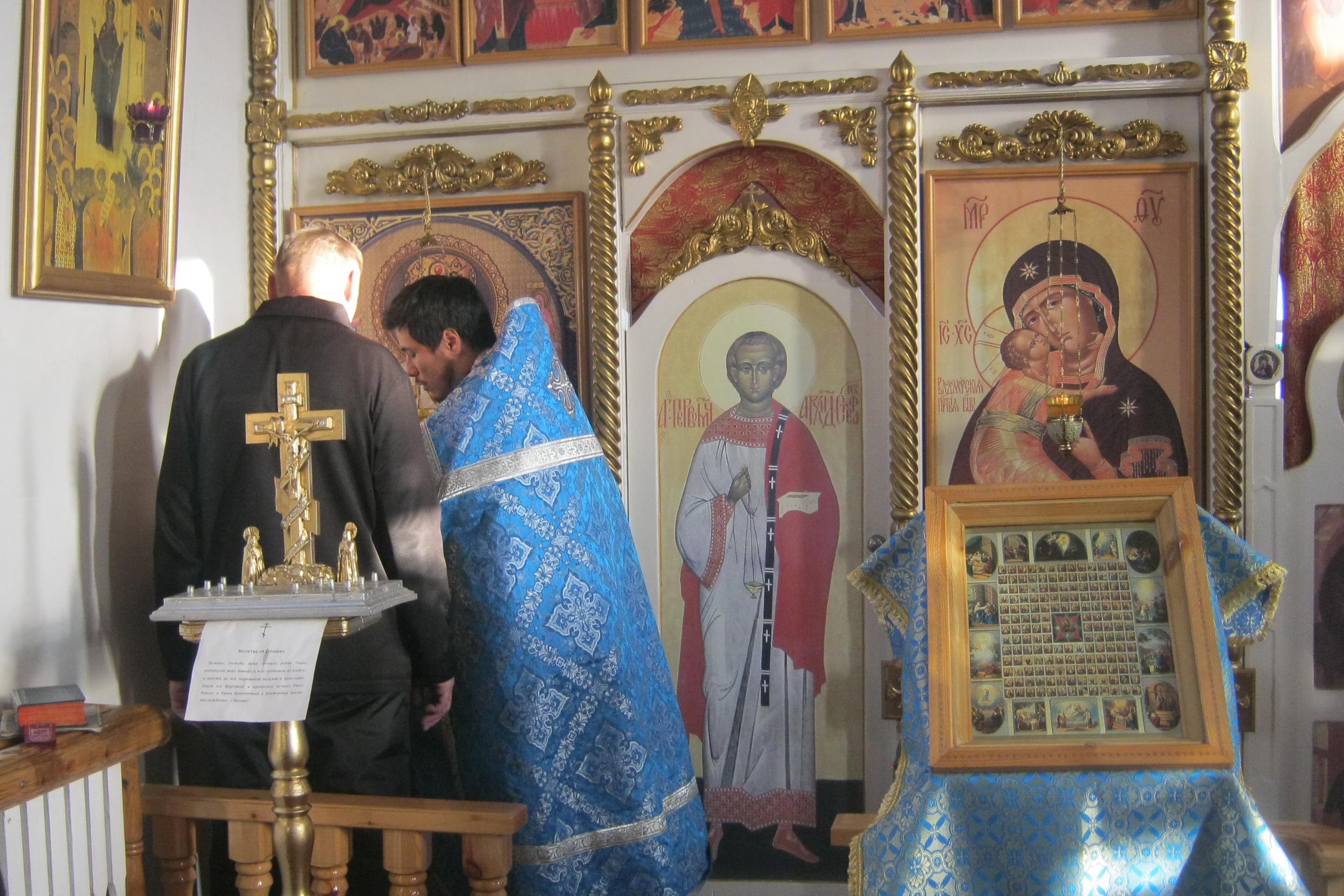 Божественная литургия прошла в исправительной колонии № 8 Бурятии